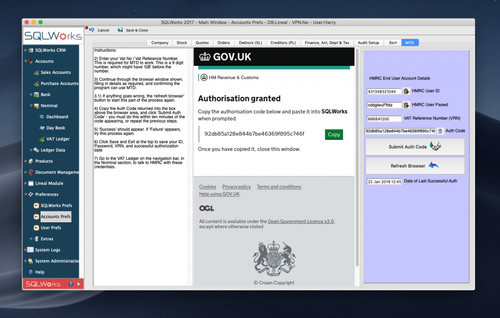 making tax digital authorisation